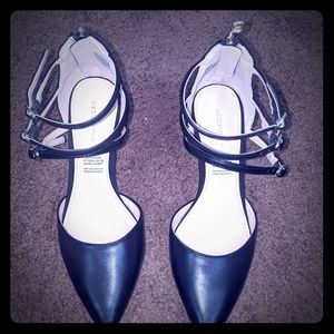 Black Triple Strapped Heels